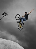 BMX Biker Performing Tricks