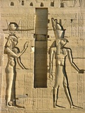 Detail of Isis and Horus from Sculptural Program of the Temple of Isis at Philae