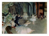 Rehearsal of the Ballet on the Stage