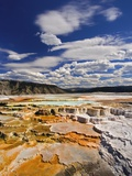 Colorful Terraces atop Mammoth Hot Springs