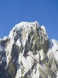 Snow Cornices on Mountain