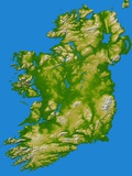 Topographic Image of Ireland