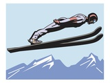 an image of a ski jumper in mid air