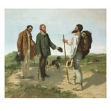 The Meeting or Good Day  Monsieur Courbet