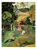 Landscape With Peacocks