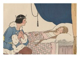 Illustration of Prince Charming Discovering Sleeping Beauty by Margaret Evans Price