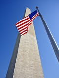 Washington Monument and American Flag