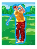 Male Golfer After a Swing
