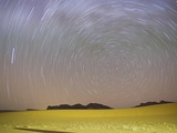 Star Trails Above Desert