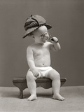 1940s Baby Sherlock Holmes In Diaper