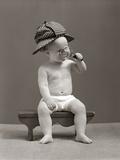 1940s Baby Sherlock Holmes In Diaper