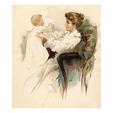 Illustration of a Mother and Infant