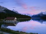 Maligne Lake at Dusk  Jasper National Park  Alberta  Canada