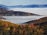 Fog Over Appalachian Mountains in Autumn