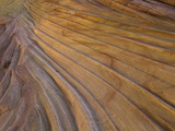 Colorful striated sandstone layers at Coyote Buttes