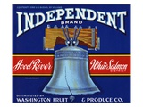 Independent Brand Fruit Crate Label