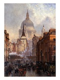St Paul&#39;s Cathedral and Ludgate Hill  London  England