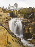 Waterfalls Cascading over Rocks near Fitzroy Range