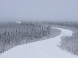 Dempster Highway in snow storm