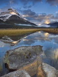 Rampart Ponds with Mount Athabasca and Mount Amery  Banff National Park  Alberta  Canada