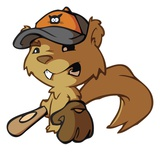 Squirrel Baseball Player