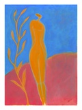 Nude Woman Standing Next to Tree