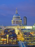 St Paul's Cathedral at night  London