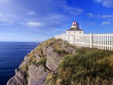 Lighthouse at Cape Spear National Historic Site  Newfoundland  Canada
