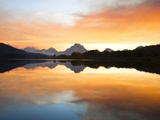 Sunset over the Snake River at Oxbow Bend