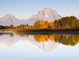 Sunrise on Snake River at Oxbow Bend