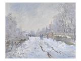 Snow Scene at Argenteuil Giclée par Claude Monet