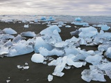 Stranded drift ice at Jokulsarlon