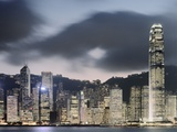 Hong Kong Skyline and financial district at dusk