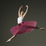 Female Ballet Dancer Jumping