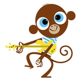 Monkey playing guitar