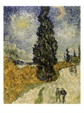 Road with Cypresses