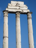 Low angle view of Corinthian columns  Temple of Castor and Pollux  Roman Forum  Italy
