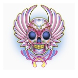 Day of the Dead skull with wings
