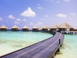 Water bungalows and jetty