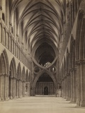 The inverted arches of the Wells Cathedral