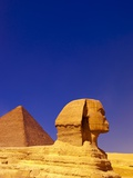 Great Sphinx and Pyramids at Giza