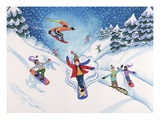 People Snowboarding