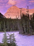 Mt Stephen and the Kicking Horse River  Yoho National Park  British Columbia  Canada
