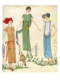Illustration of Women in 1920s Fashion