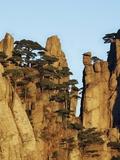 Jagged mountain pinnacles  Huangshan  Anhui  China