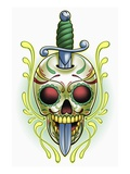 Day of the Dead skull with dagger