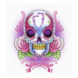 Day of the Dead skull with roses