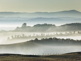 Misty hills in Tuscany