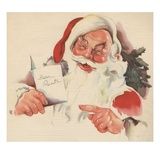 Santa Claus reading letter