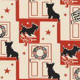 Do Not Open Until Christmas Pattern with Dog